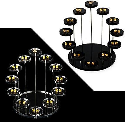 Proglam Pr/ésentoir /à Bijoux 12 Plateaux en Acrylique Transparent Organiseur Bague Boucles doreille Bracelet pr/ésentoir /étag/ère Outil