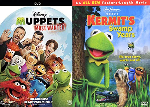 Frog Left the Swamp the Muppets Double Feature Kermit Green The Swamp Years Movie + The Most Wanted Jim Henson DVD Miss Piggy Fozzie Bear & Friends