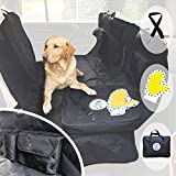 Cheap Pet Car Seat Cover for Dogs – Heavy Duty Luxury Rear Seat Hammock Protector – Waterproof Backseat Cover Split Zip Non-Slip Scratchproof Pet Cat Blanket for Cars Trucks and SUVs – Large Universal Black