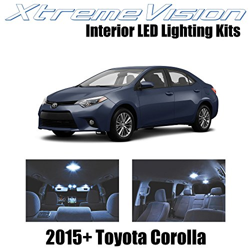 (XtremeVision Interior LED for Toyota Corolla 2015+ (6 Pieces) Cool White Interior LED Kit + Installation Tool)