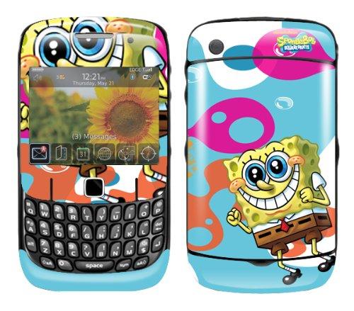 MusicSkins, MS-SBOB20044, SpongeBob SquarePants - Bikini Bottom, BlackBerry Curve (8520/8530), Skin