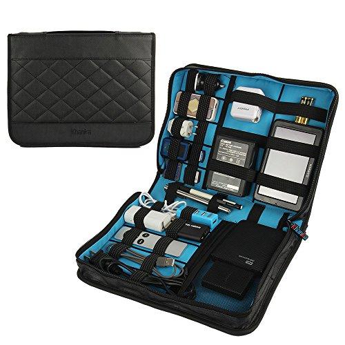 Teckone Tragbare Universal Reise Organizer Tasche Case Bag für Elektronische Zubehör Kleingeräte (Spielekonsolen, TomTom Navi, Externe Festplattengehäu, Kabel Veranstalter) - Große