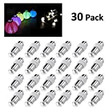 LEORX 30 Piece Led Party Lights for Paper Lanterns, Balloons, Floral Party Decoration, Waterproof, Warm White