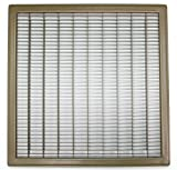 30'' X 18'' Heavy Duty Rigid Floor Grille - Fixed Blades Return Air Grill - Brown