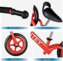 6091e4556bc3 INTEY Ultra-Light Balance Bike,12 Inch No Pedal Kids Bicycle for 2-5 Year  Olds, Toddler Balance Bike Made of Aluminium Alloy, Adjustable Height, ...