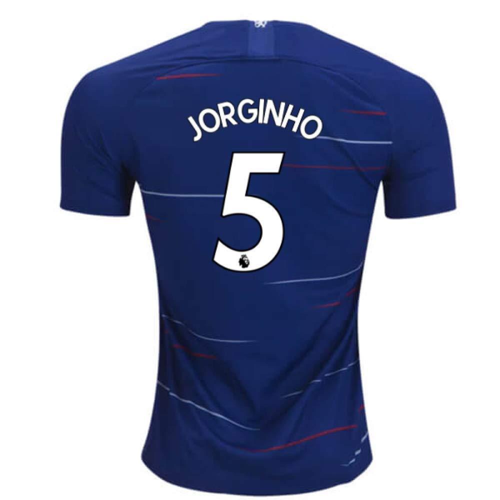 2018-2019 Chelsea Home Nike Football Soccer T-Shirt Trikot (Jorginho 5)