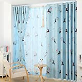 QWASFCDS Curtain Garden Flower Full Blac...
