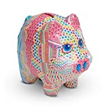 Melissa & Doug 30106 Decoupage Made Easy Piggy Bank Paper Mache Craft Kit with Stickers