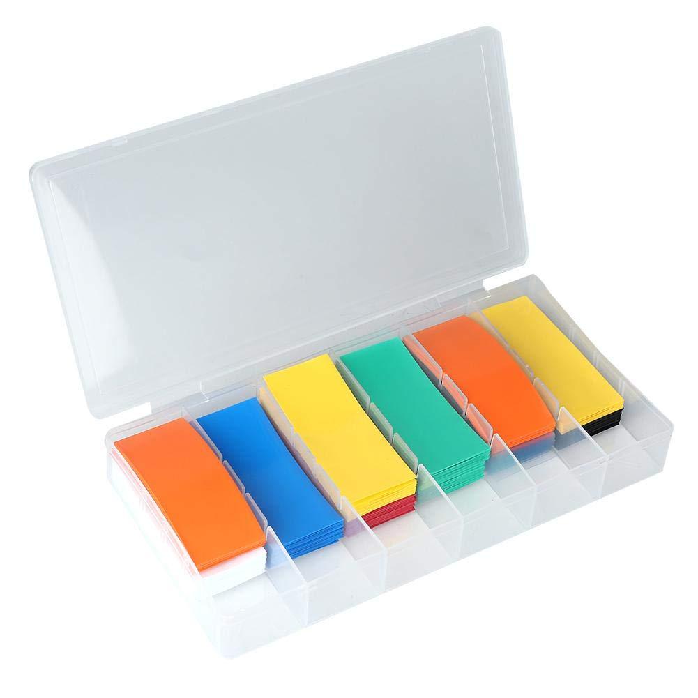Tube thermor/étractable-280pcs PVC Kit denveloppe de batterie de gaine thermor/étractable pour batterie 18650 avec bo/îte de rangement