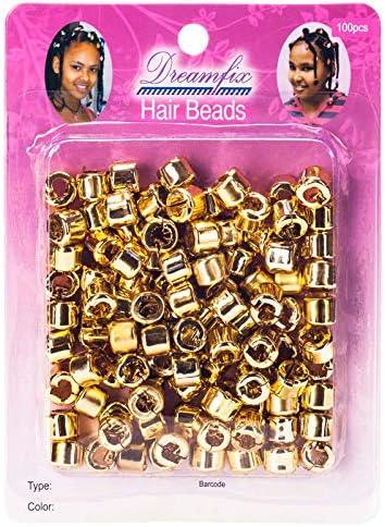 Mehrfarbig Haarschmuck Verstellbar Frauen Dreadlock Perlen Cuffs Clips 20 Stk