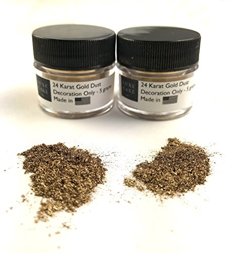 (2 Pack) 24 Karat Gold Luxury Cake Dust, 10 grams total, USA Made by Luxe Cake