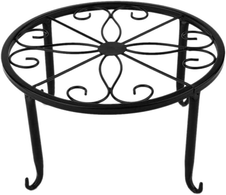 Proglam - Soporte para macetas de Hierro para decoración de Interiores y Exteriores