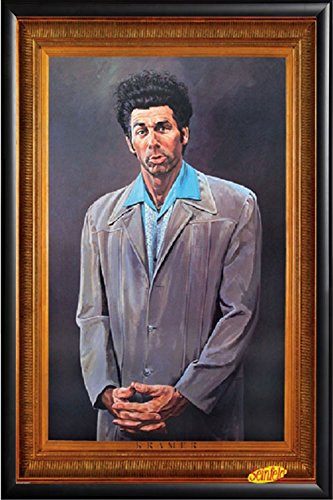 FRAMED Pyramid Seinfeld Kramer 24x36 Poster in Black Detail