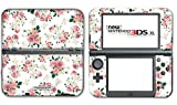 #4: Flowers Roses Pink White Art Video Game Vinyl Decal Skin Sticker Cover for the New Nintendo 3DS XL LL 2015 System Console