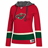 Minnesota Wild NHL Reebok Red Authentic Jersey Team Crewdie Pullover Hoodie For Women (XS)