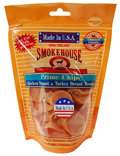 (Smokehouse Pet Products 85458 Chicken Turk Chips Treat For Dogs, 4-Ounce)