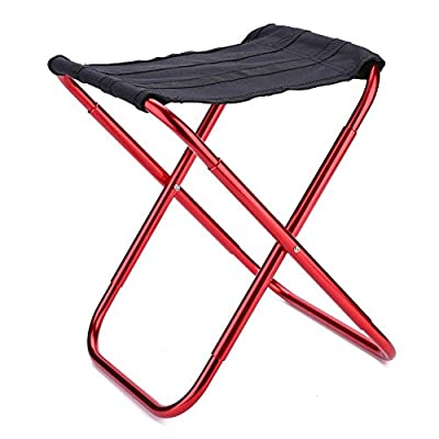 VGEBY Portable Folding Stool, Lightweight Folding Chair for Camping, Fishing, Travel, Hiking, Garden, Beach: Sports & Outdoors