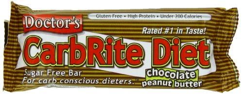 CarbRite régime sucre bar gratuit Docteur, Chocolate Peanut Butter, Bars 2 onces, 12-Count