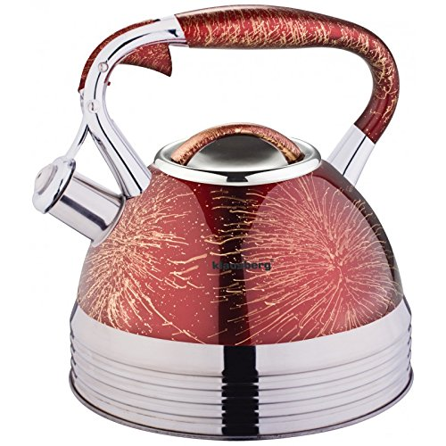 2.7 Litre Whistling Kettle Whistling Tea Kettle Water Jug Kettle Stainless Steel Long Blue Klausberg