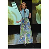 Glee (TV Series 2009 - 2015) 8 inch by 10 inch PHOTOGRAPH Jayma Mays Full Body at Mic kn