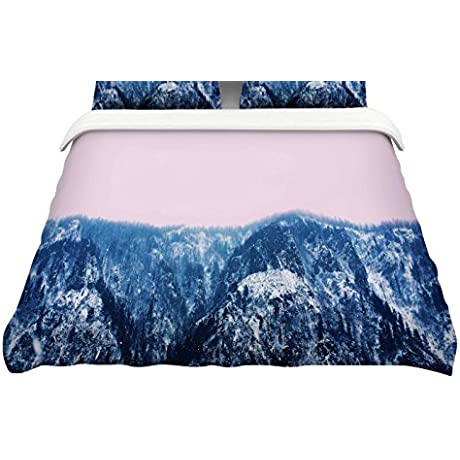 KESS InHouse Suzanne Carter Naked Wild Blue Pink Digital King Featherweight Duvet Cover 104 X 88