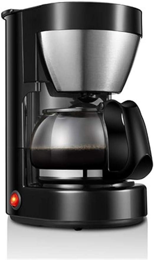 SMX Cafetera, Goteo de café con la garrafa de Cristal y un botón táctil, máquinas de café con la decoración de Acero Inoxidable (Negro): Amazon.es: Hogar