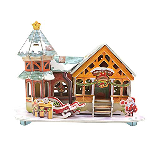 Used, YeahiBaby 3D Puzzle Dollhouse Christmas House Kit Handmade for sale  Delivered anywhere in Canada