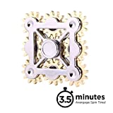 Gear Wheel EDC Fidget Spinner, Ultra Durable, High Speed & Fast Rotation, Stress Reducer Anti-Anxiety Toy for Children & Adults, 3 Min Rotation Time, R188 Ceramic Hybrid Beads Bearing