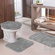 Jogo De Banheiro Oasis Classic 3 Pecas > CINZA >