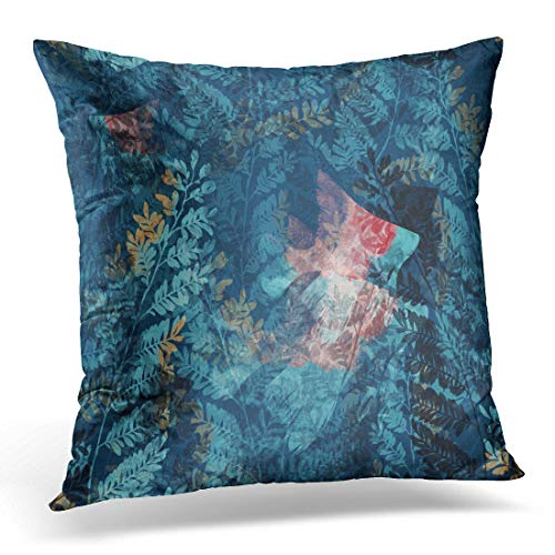Emvency Throw Pillow Covers Case Abstract Ghostly Underwater World Raster Imprints Fabrics Souvenirs Packaging and Air Decorative Pillowcase Cushion Cover for Sofa Bedroom Car 18 x 18 Inches