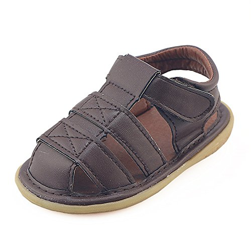 Z-T FUTURE Baby Squeaky Shoes - Summer Oxford Fisherman Sandals Anti-Slip First Walkers For Toddler Boys ()