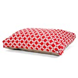 Red Links Extra Large Rectangle Indoor Outdoor Pet Dog Bed With Removable Washable Cover By Majestic Pet Products by Majestic Pet