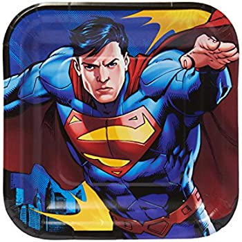 Amazon.com: Warner Bros. Superman Logotipo Platos, Láminas ...