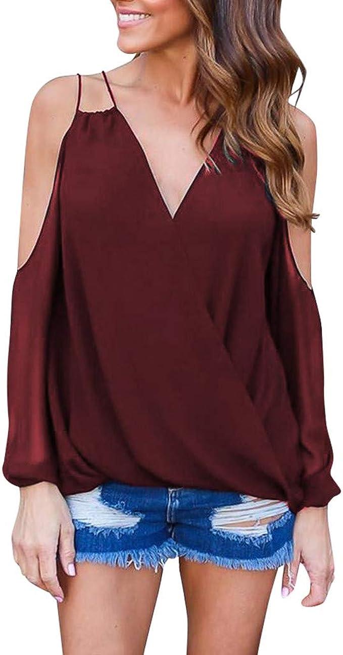 Reaso - Camiseta Larga para Mujer de Verano, Talla Grande, sin ...