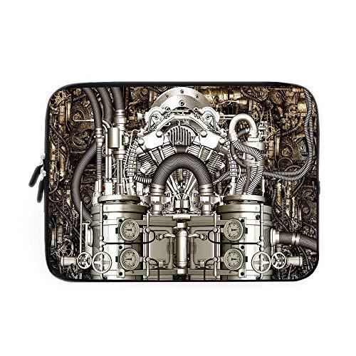 (Modern Decor Laptop Sleeve Bag,Neoprene Sleeve Case/Two Cylinder Engine Engineer Motors Cars Lovers Inspired Image Photo/for Apple MacBook Air Samsung Google Acer HP DELL Lenovo AsusGrey and)