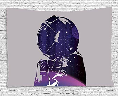 Tapestry Ambesonne Exposure Cosmonaut Celestial