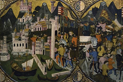 Conquest of Naples, by Charles of Durazzo, 12x18 Paper Giclée