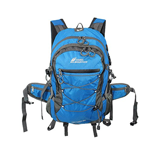 Camel Mountain Hiking & Camping Backpack, Anti-Theft Backpack, Fits 13'-17' Laptop Multipurpose (Blue)