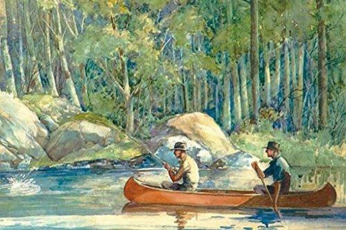 Canoe Catch, by William Hamilton Hope, 12x18 Paper Giclée