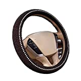 Hsdris Steering Wheel Cover Wooden Beads Breathable Cool Comfortable Non-Slip Suitable for Summer Universal 15 inch - B