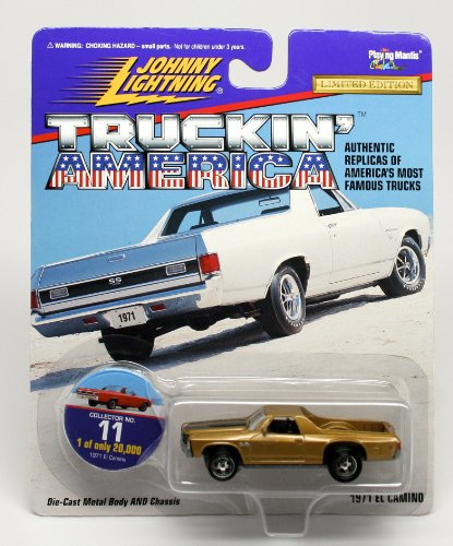 1971 EL CAMINO * COLLECTOR NO. 11 * Johnny Lightning 1997 TRUCKIN' AMERICA COLLECTION 1:64 Scale Die Cast Vehicle * Limited Edition: 1 of only 20,000 (Gmc Pickup Truck Hot Rod)