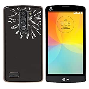 Cubierta protectora del caso de Shell Plástico || LG L Prime D337 / L Bello D337 || fuegos artificiales de año nuevo blanco negro 4'th @XPTECH