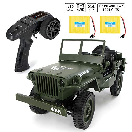 Rc Trucks, Military Truck Drive Off-Road Rc Cars, 1:10 Scale High Speed 46km/h 4WD 2.4Ghz Remote Control Trucks for Adults and Kids, Q65