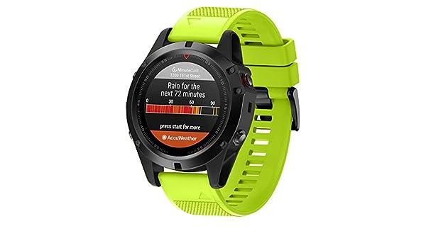 Amazon.com: Jewh Watchband for Garmin Fenix 5X/Fenix 3/Fenix 3 HR - Replacement Soft Silicone Watch Strap - Garmin Fenix Watch Band - Garmin Colorful Watch ...