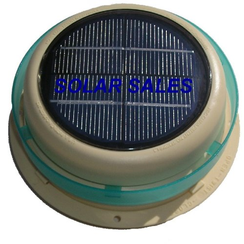 Round Solar Roof Vent for RVs, Boats, Sheds, Geen house, Cars (Green Panels Solar With Roof)