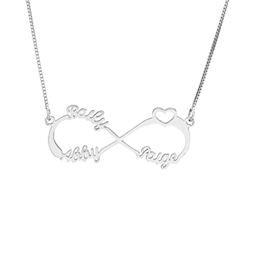 Yandam Infinity Symbol Heart Name Necklace Infinite Love Private Order Name Necklace