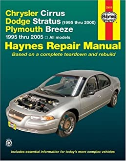 chrysler cirrus dodge stratus 1995 thru 2000 plymouth breeze rh amazon com dodge stratus 2004 manual to print 2005 dodge stratus parts manual