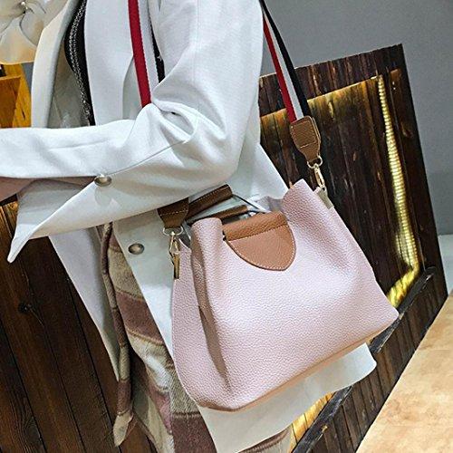 la de empalme mujeres Bolsos de rosa cuero el de moda de bolso Crossbody bolso hombro con las zarupeng de de del xgPwq0YdzY