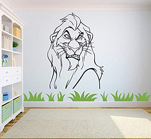 (Scar Decal Lion King Wall Vinyl Decal Home Interior Graphic Child Room Boys Bedroom Vinyl Applique)