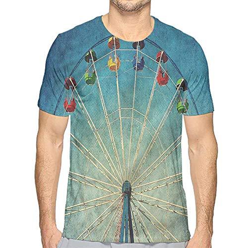 Funny t Shirt Vintage,Ferris Wheel Fun Retro Men's and Women's t Shirt S ()